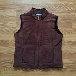 Pendleton • Lamb Fur Full Zip Leather Vest